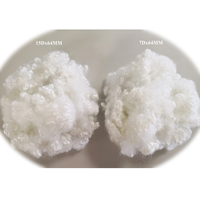 recycled Hollow Conjugated Polyester Staple Fiber 15Dx64mm HCS Polyfill Fiber for filling Pillow HCS Fiber
