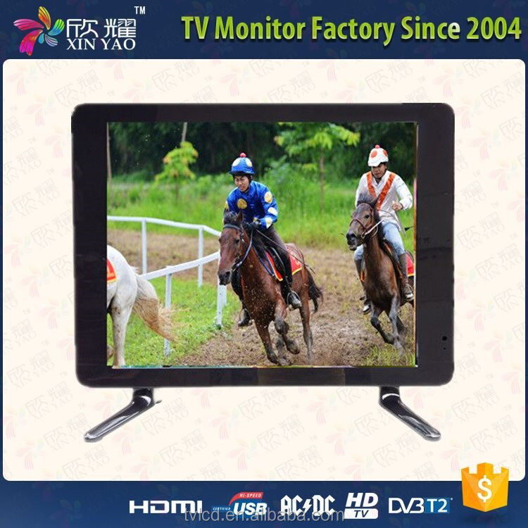 Small size mini television 15 17 19 inch wholesale lcd tv price dc 12v DVB-T2 S2 television