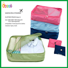 Encai Foldable Travel Organiser Pouch For Clothes/Portable Underwear Storage Bag/Nylon Mesh Toiletry Bags In Bag(L)