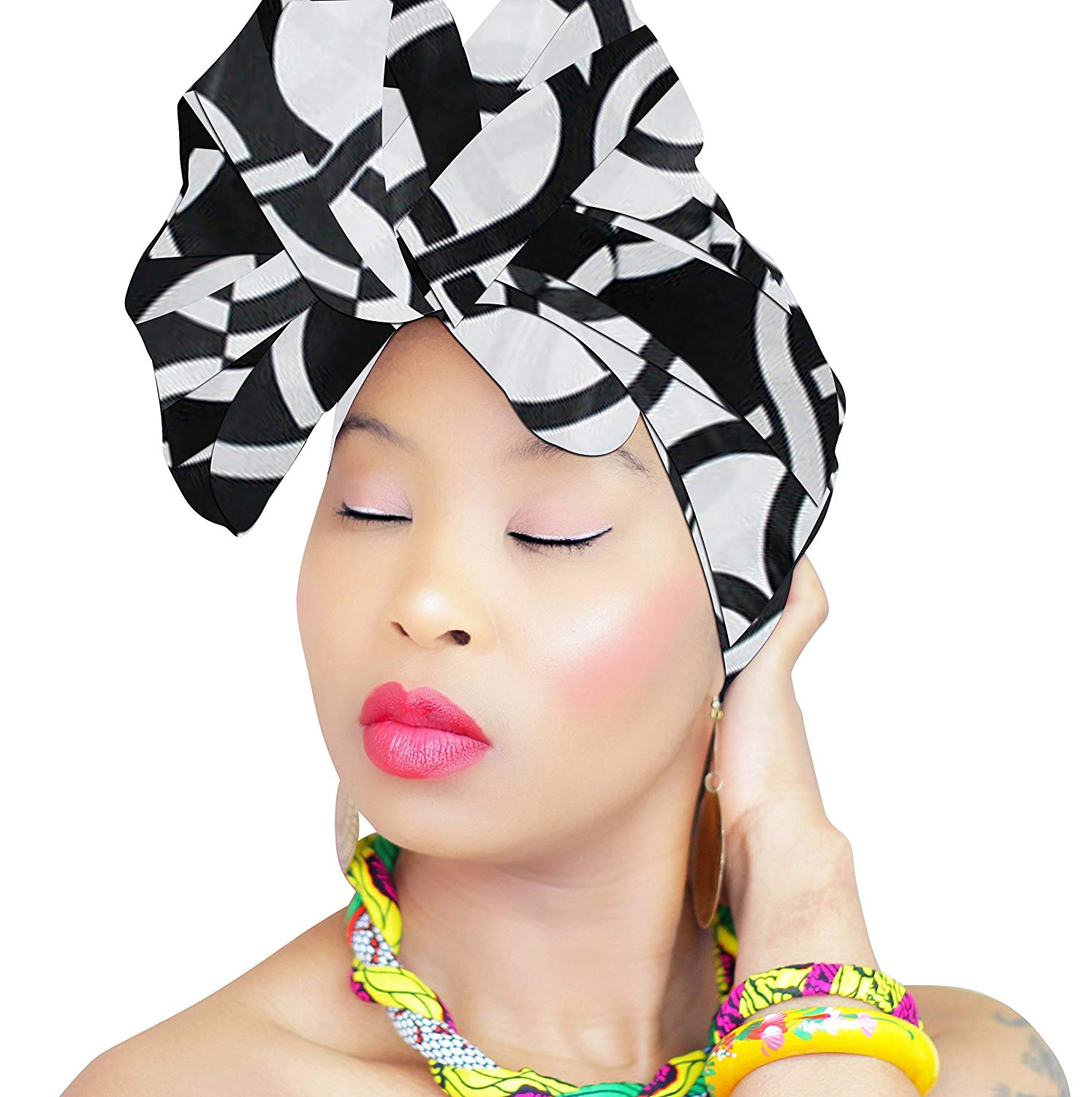 2e423c81e Get Quotations · Premium & Fancy Large Head Wrap, Head Scarves, Head Bands  for Women in Cotton