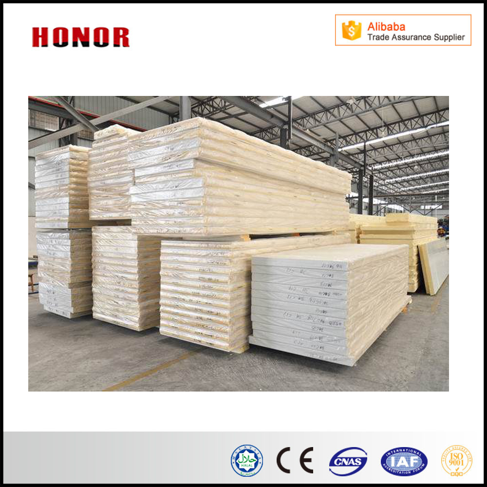 Materials Used Wall Panelling Cold Room Sandwich Panel PU Polyurethane Sandwich PanelFor Storage Food