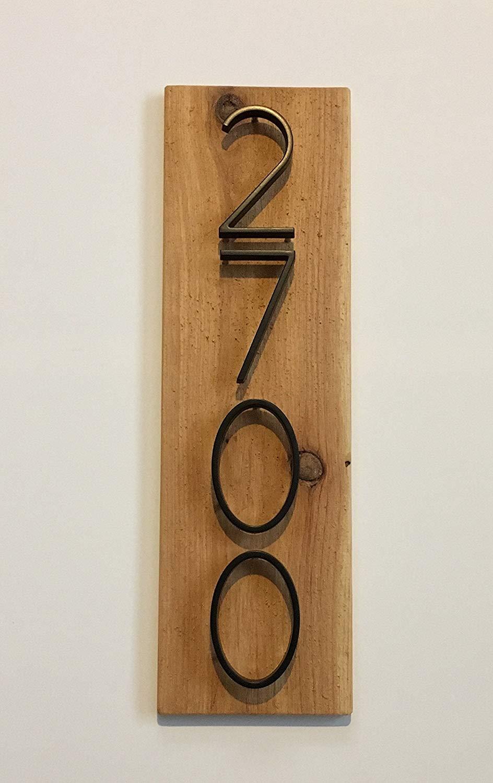 Rustic Wood Address Plaque - Vertical, Modern, Rustic, Cedar Wood, Custom, House Numbers, Address Sign, Top Quality, Best Seller, Housewarming Gift,