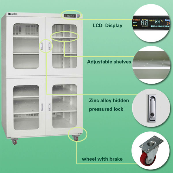 Low MOQ Auto Humidity Proof Dehumidify Dry Cabinet Price