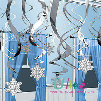 BABY BOY 1ST BIRTHDAY PARTY SHOWER HANGING SWIRL D