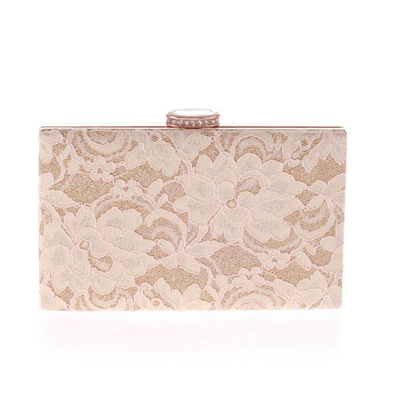 Fit&Wit Clutch Bag Womens Elegant Lace Flower Evening Cocktail Wedding Party Purse