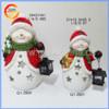 Hot sale lovely christmas crafts ceramic snowman