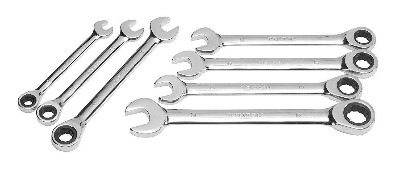 TEKTON 2104 Ratcheting Combination Wrench Set, Metric, 7-Piece [Older Model]