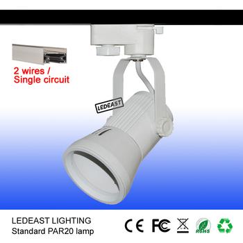2 Wires Track Light Par20 Fixture Bracket Track Light Lamp Holder ...