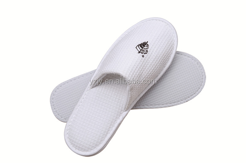 wholesale hotel supplies waffle washable slippers indoor thick eva sole disposable indoor guest slippers