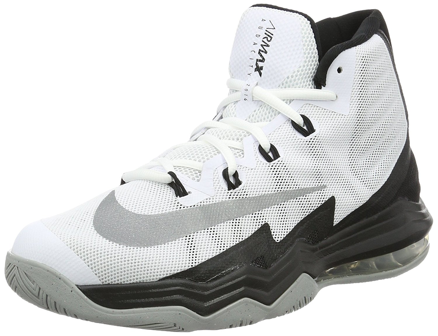 f88df1389253 Get Quotations · Nike Men s Air Max Audacity 2016 Basketball Shoe White Reflect  Silver-Black-Wolf