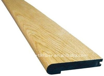Stair Tread Of Laminated Wood With Pine, Oak,Maple Veneer Wrapped.