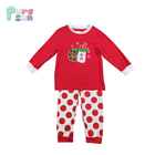 Fashion Organic Cotton Import Kids Clothing Two Pieces Red Dot Unisex Baby Clothing Set
