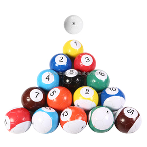 Factory Direct Sale 16 pcs/set Snookball Pool Ball Size 5 4 3 Playing Football Billiard Soccer
