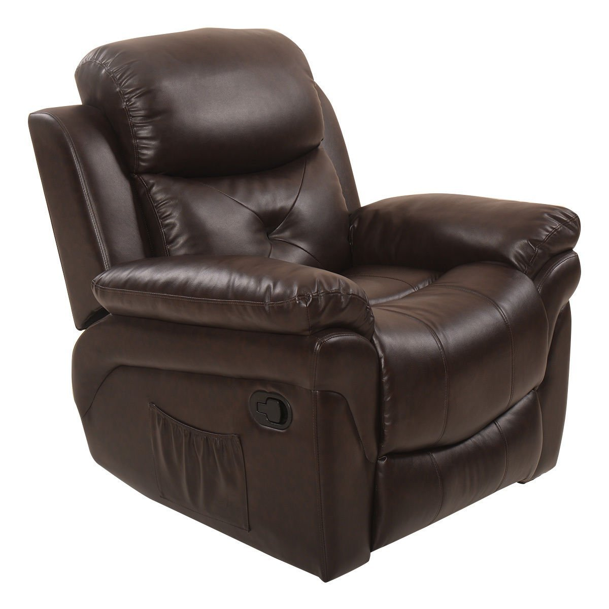 Get Quotations · Tangkula Recliner Massage Sofa Rocking Lounge Chair Heated  Swivel Executive W/ Control (Brown)