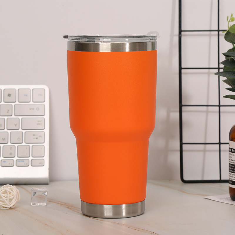 30 OZ Double Wall Vacuum Wine Tumbler Stainless Steel Reusable Water Tumbler Vacuum Coffee Cup