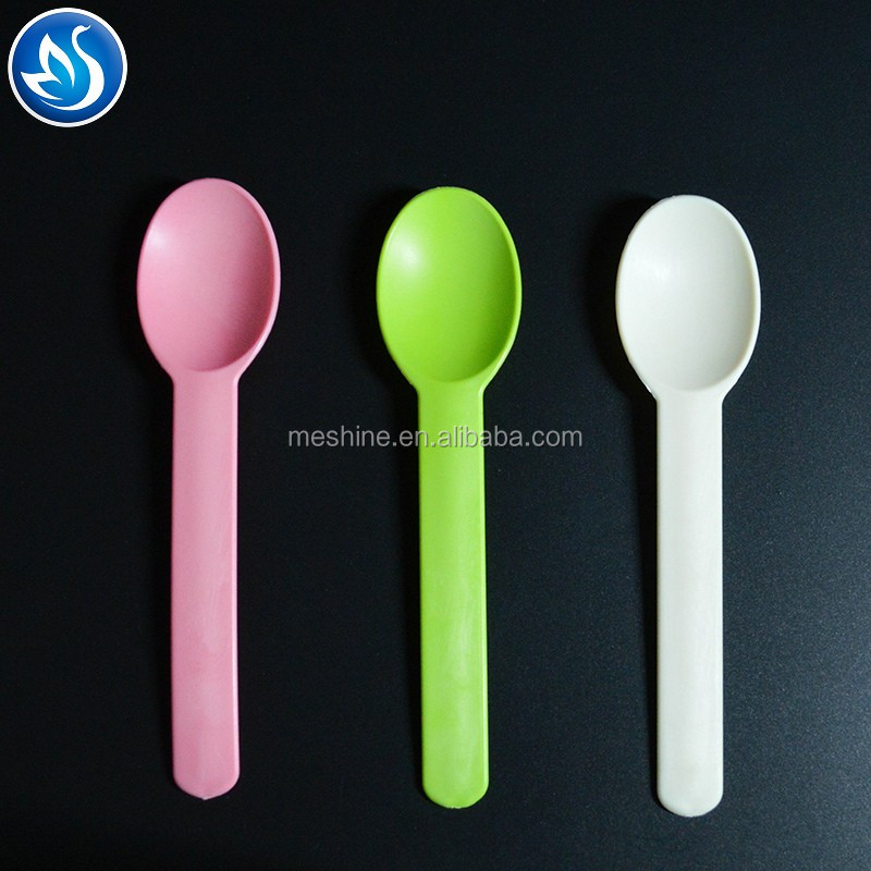 Ice cream spoon frozen yogurt color changing plastic spoon