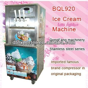 ice cream machinery BQL920 soft ice cream making machines soft ice cream machinery