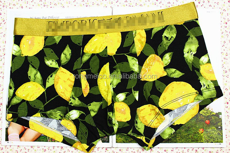Men style yellow underwear boxer brief