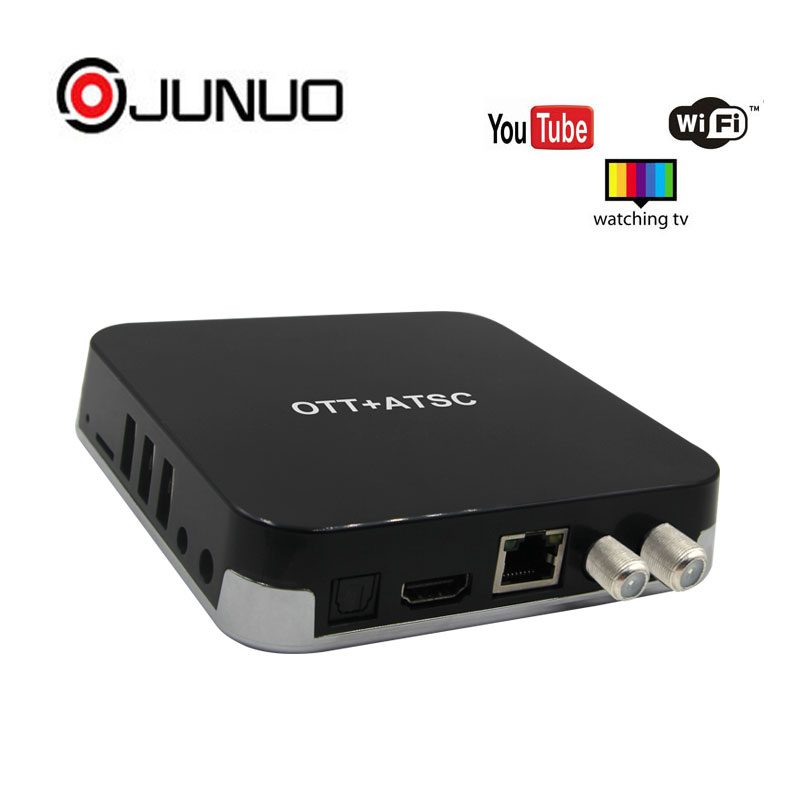 JUNUO Latest Amlogic S905D Android DVB-T2 Combo 4K Internet Android TV Box