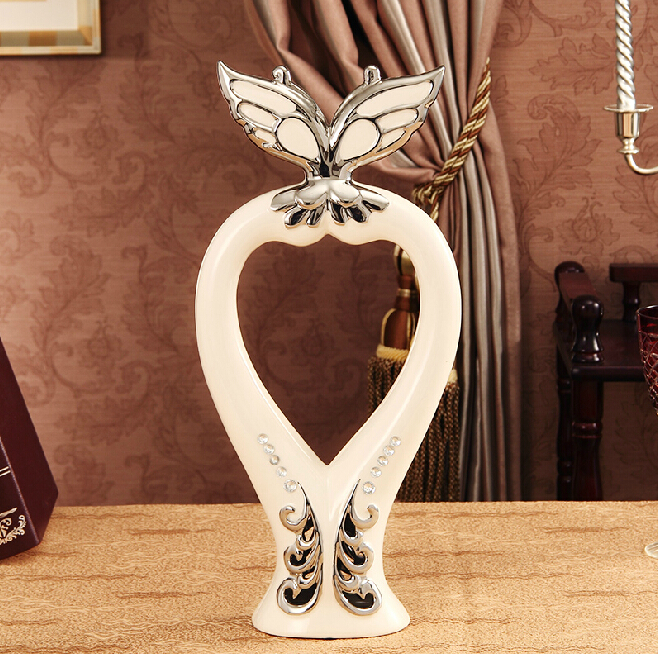Ceramic diamond butterfly ornaments European home storage box ornaments crafts home decoration decorative containers