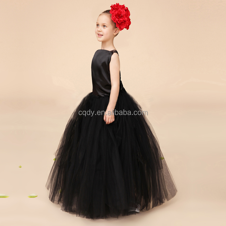 Vintage Black Children Girl Party Dresses With Red Flower Baby 1 ...