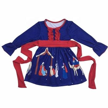 Christmas Outfits.New Remake Girls Cotton Christmas Outfits Children S Fall Winter Christmas Blue Nativity Dress Kids Baby Girl Dress Buy Christmas Blue Nativity