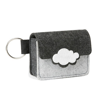 Wholesale felt essential oil pouch case cosmetic carrying bag for roller essential oil