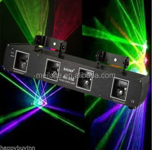 80mW RGPY 4 Lens DMX Stage DJ Laser Light Stage Disco KTV Beam Show Lazer Light