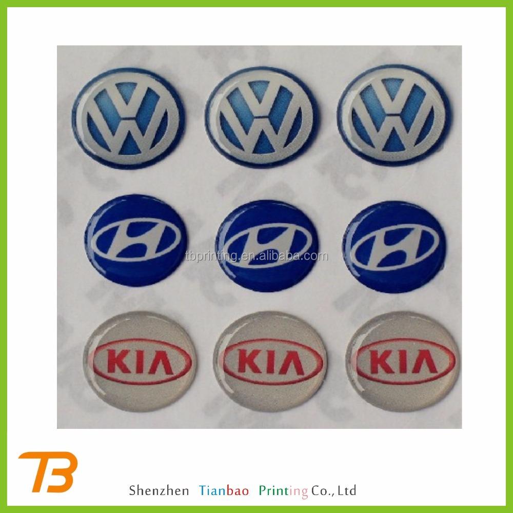 Custom cheap clear epoxy sticker printing
