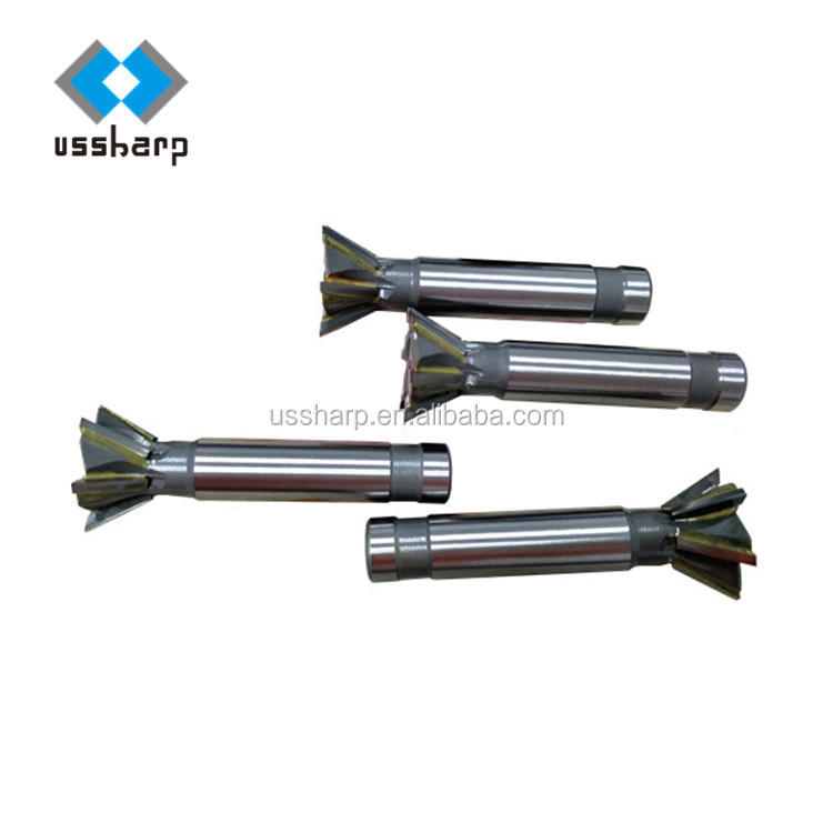 Machine Dovetail Cutter End Mill Carbon Tools Alloy steel 60 Degree Metalworking