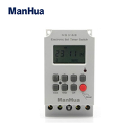 Manhua MS316B 68 ON 230VAC 25A 50/60Hz programmable timer switch school bell time controller