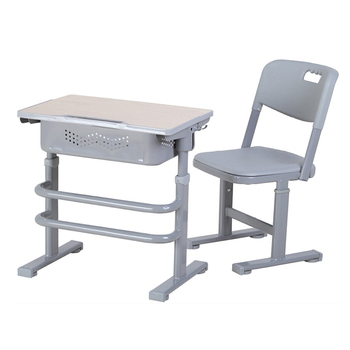 Gray Height Adjustable Study Table For Students