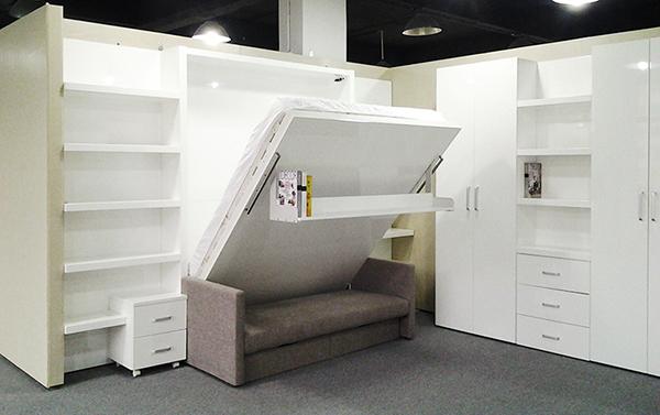 De la pared plegable cama muebles muebles inteligentes - Muebles inteligentes ...