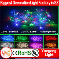 10m 100 leds incandescent light string 110V 220V waterproof outdoor christmas light for wedding party holiday decorative