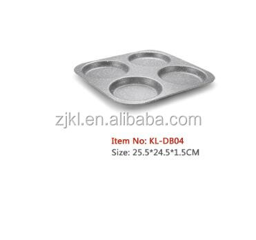 4 Cup Non Stick Carbon Steel Muffin Pan with marble coating