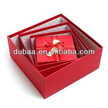 2016 Wedding Gift Packaging Oem Box,Wholesale Luxury Paper Red Gift ...