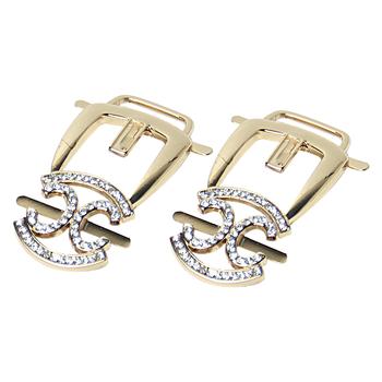 Decorative Wedding Gold Ladies Shoe Clip For High Heel Buy Shoe Decoration Metal Clip Gold Shoe Buckle With Rhinestone Shoe Buckle Clip Decoration