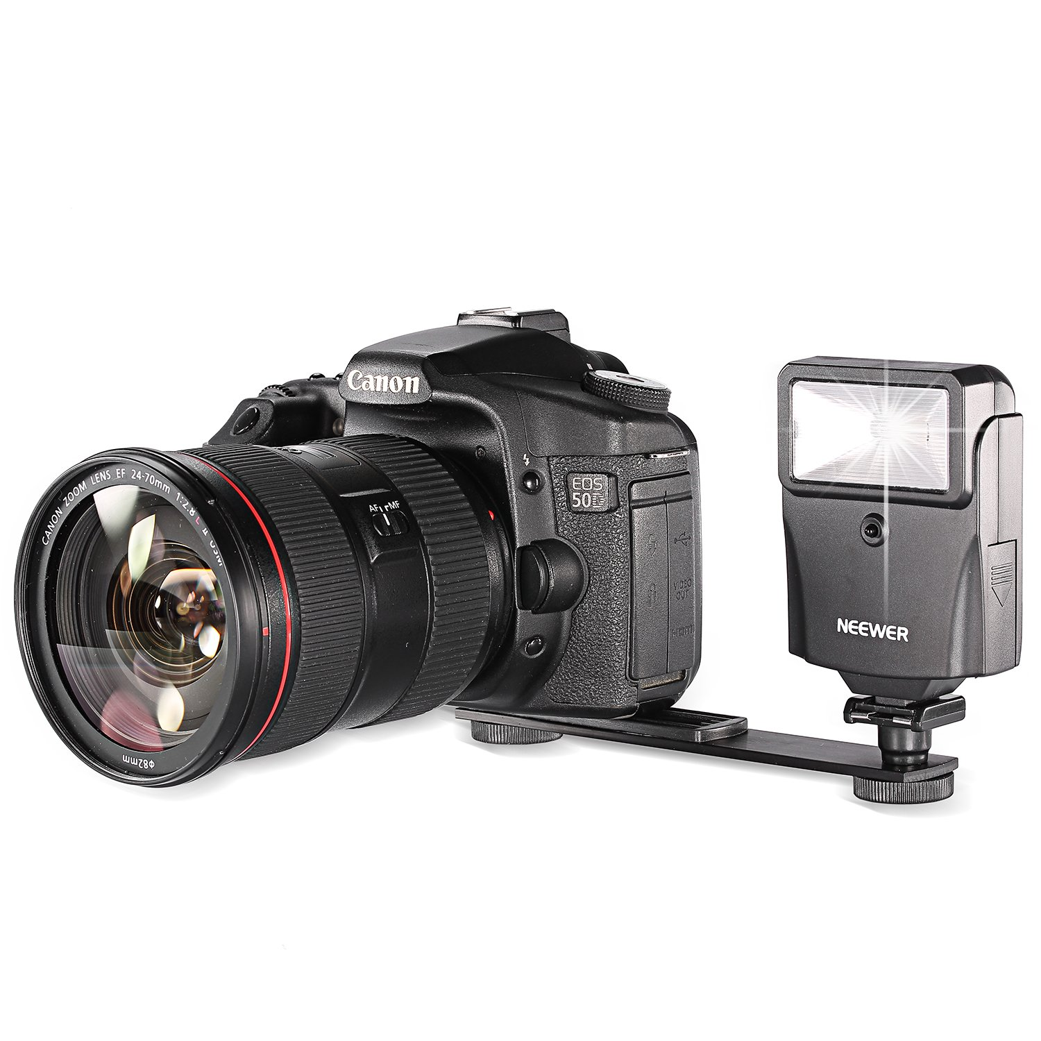 Neewer All-Camera (Sony, Canon, Nikon, Olympus, Kodak, Etc.) Auto Digital Slave Flash w/ Bracket Set