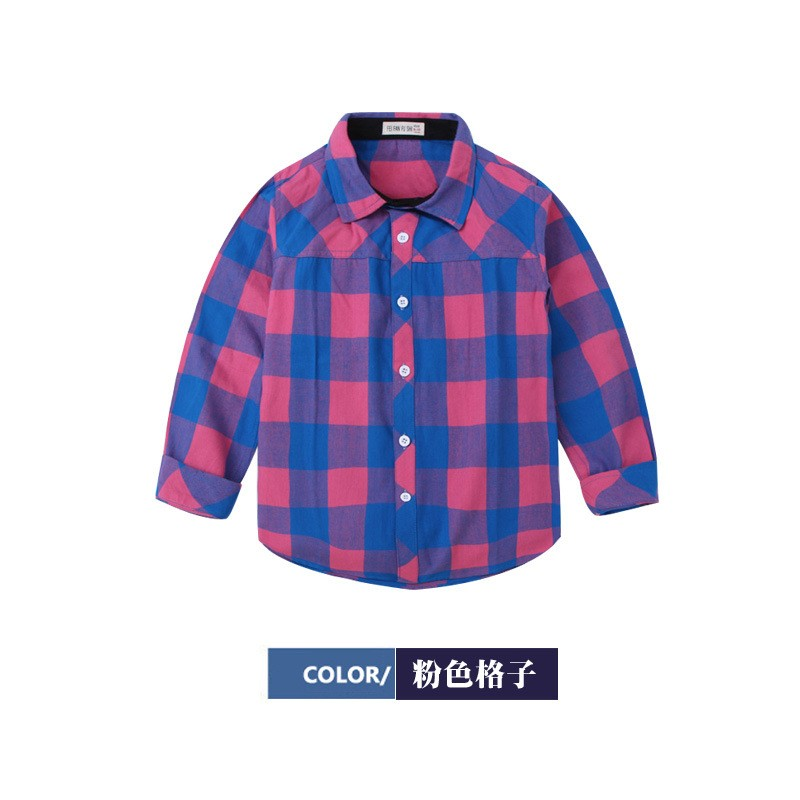66358525426f5 Kids Clothes 2017 New Style Baby Boy Dress Plaid Shirt Of Online Shopping