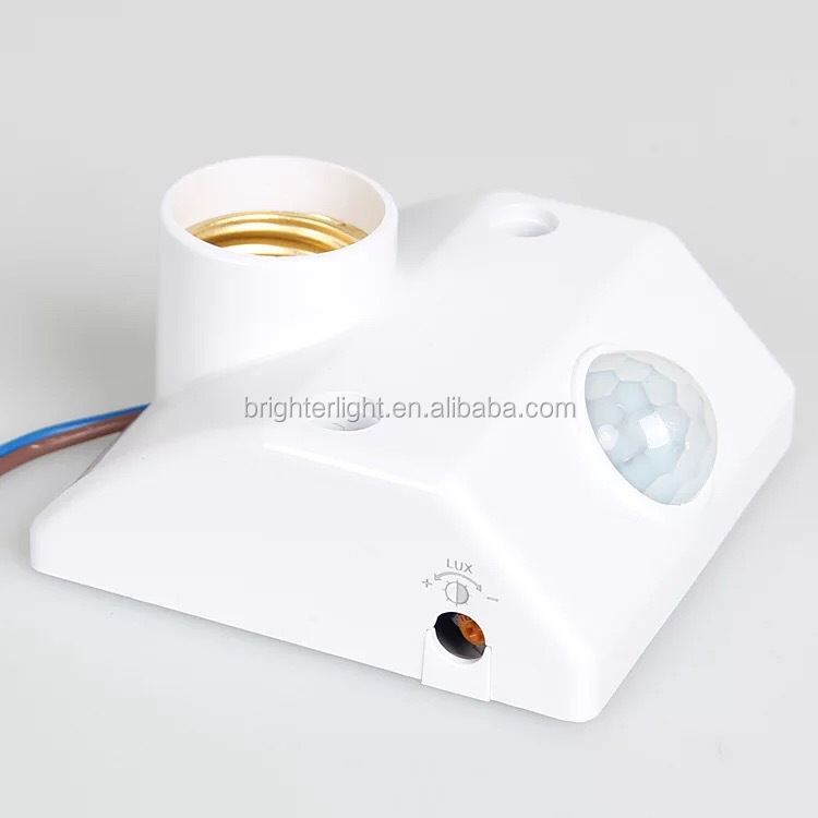 PIR Motion Sensor lamp E27 socket PIR induction lamp holder movement detector lamp holder with auto switch