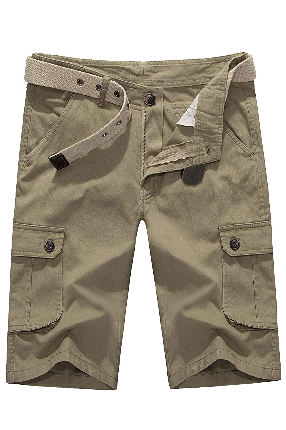 247c89f916 Get Quotations · Mr.Stream Men s Outdoor Tactical Straight-Fit Solid Work  Wear Multi-Pocket Casual
