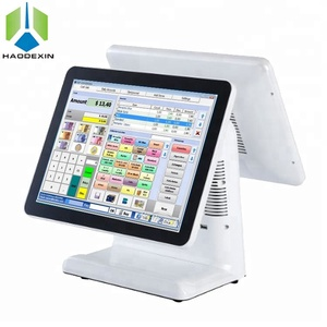 retail dual 17 inch touch screen POS machine big screen Android POS cash register for restaurant GC-092