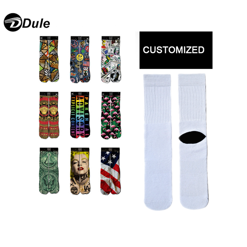 DL-I-1288 wholesale white sublimation socks white sublimation socks