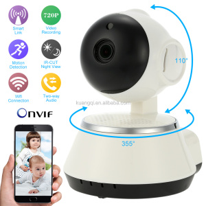 1.0MP 720P HD Wireless Wifi IP Camera CCTV Security Camera Phone Control Night Vision 2-way Audio Webcam Support TF Card