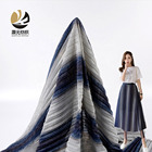 Shiny wholesale high quality soft yarn dyed gradient stripe crepe knit fabric roll for dress