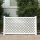PVC Lattice Fence/Hot-selling vinyl lattice