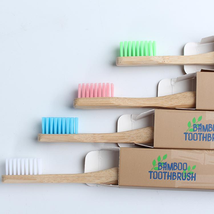 2021アイデアクラフトボックスパッキング竹歯ブラシ大人の年齢層ソフトブリッスルトラベル歯ブラシ竹
