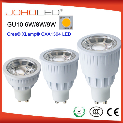 CE ROHS CREE dimmable led gu10 7w gu10 cob led <strong>spotlight</strong>