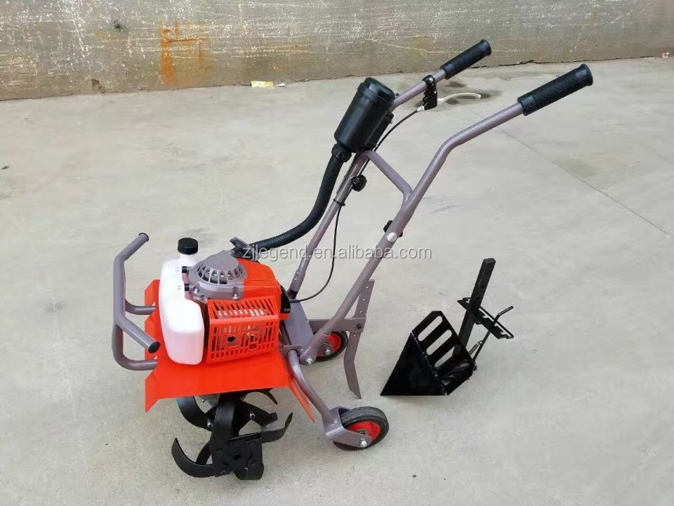 68CC double-geared drive gasoline mini tiller rotary cultivator