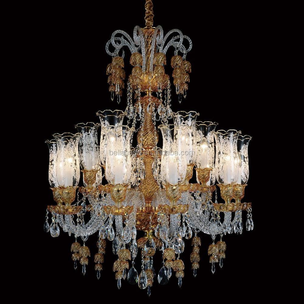 Luxus Kronleuchter Glas Bunt Kristall Beleuchtung Für Verkauf
